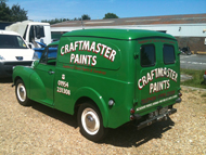 Classic Moris Minor Van Hand Painted Signwriting